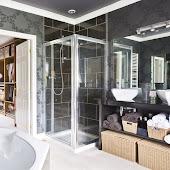 Modern och snyggt badrum