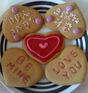 Love Heart Cookies Home baking