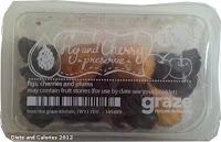Graze box snacks - fig and cherry preserve