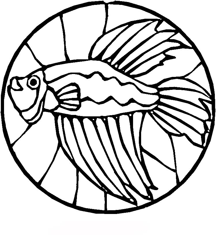 Stained Glass Fish Coloring Pages Gt Gt Disney Coloring Pages Stained Glass Coloring Pages