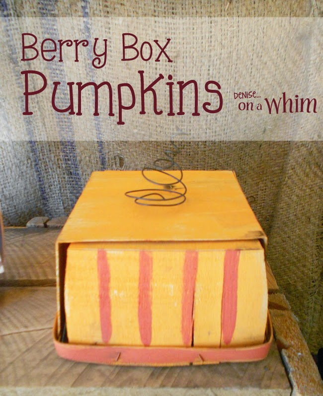 Painted Berry Box Pumpkins from Denise on a Whim