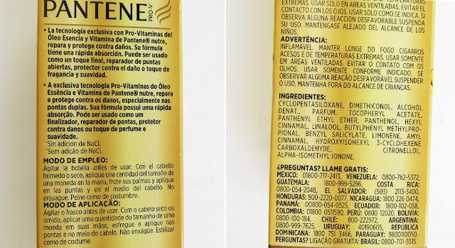 Resenha: Óleo Capilar Pantene Essência e Vitamina
