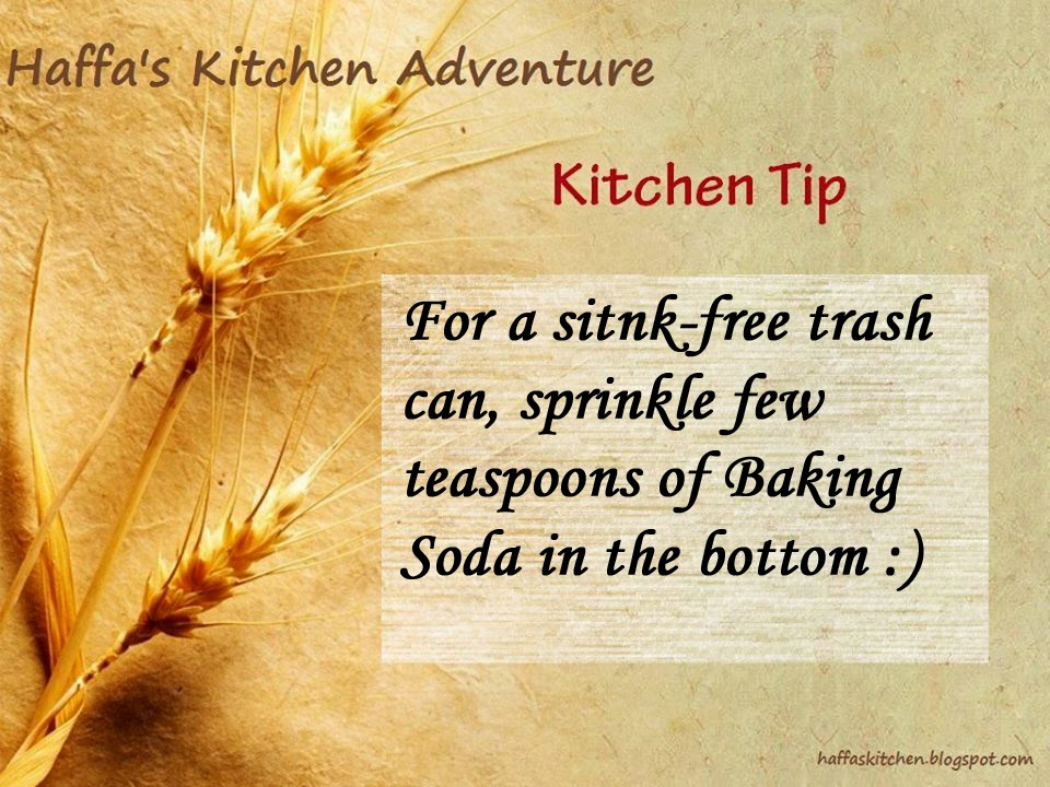 Kitchen tips| Tip - How to have a sink free trash can?,