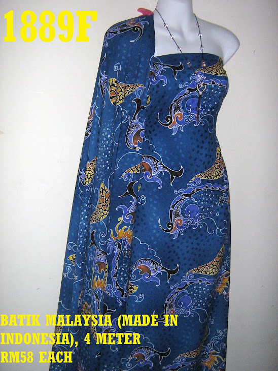 BM 1889F: BATIK MALAYSIA (MADE IN INDONESIA), 4 METER