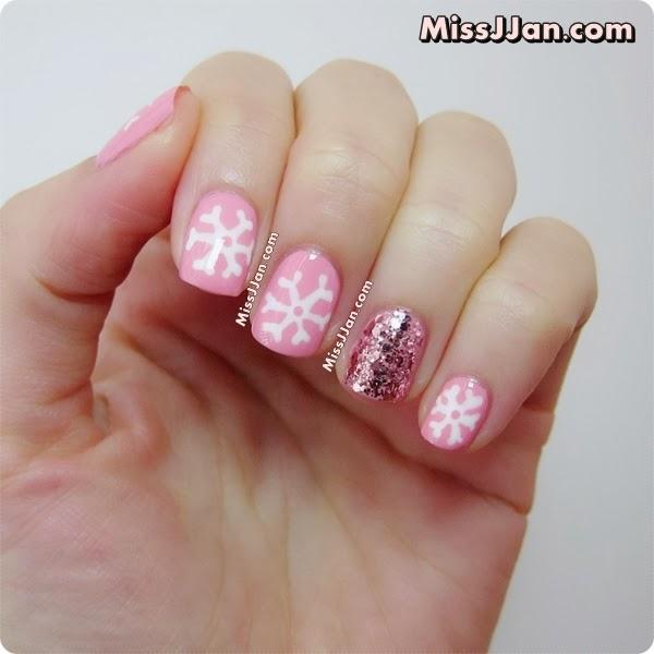 Snowflake Nail Art Tutorial: MissJJan's Beauty Blog ♥: Snowflake Nail Art {Tutorial}