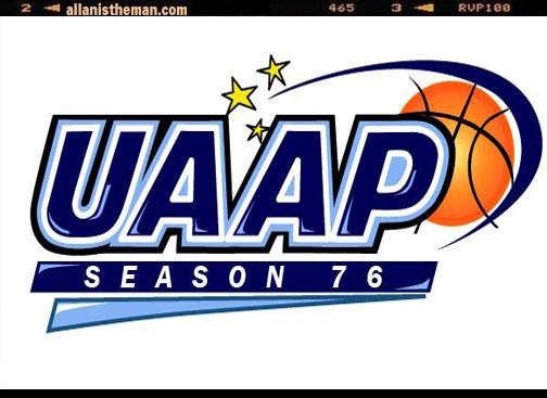 the school standings in the UAAP Season 76, as of August 15, 2013
