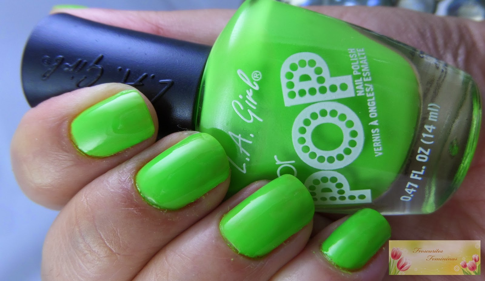 Frescurites Femininas, Green Nails, Color Pop