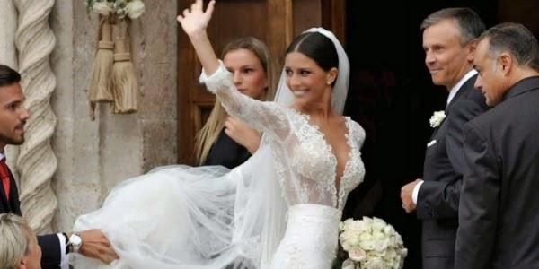 abiti da sposa vip, abito sposa ludovica caramis