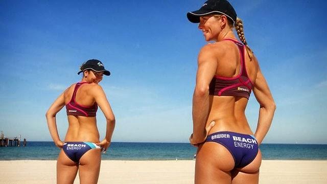 niña sexy,volley playa niñas, bikinis ,cachonda