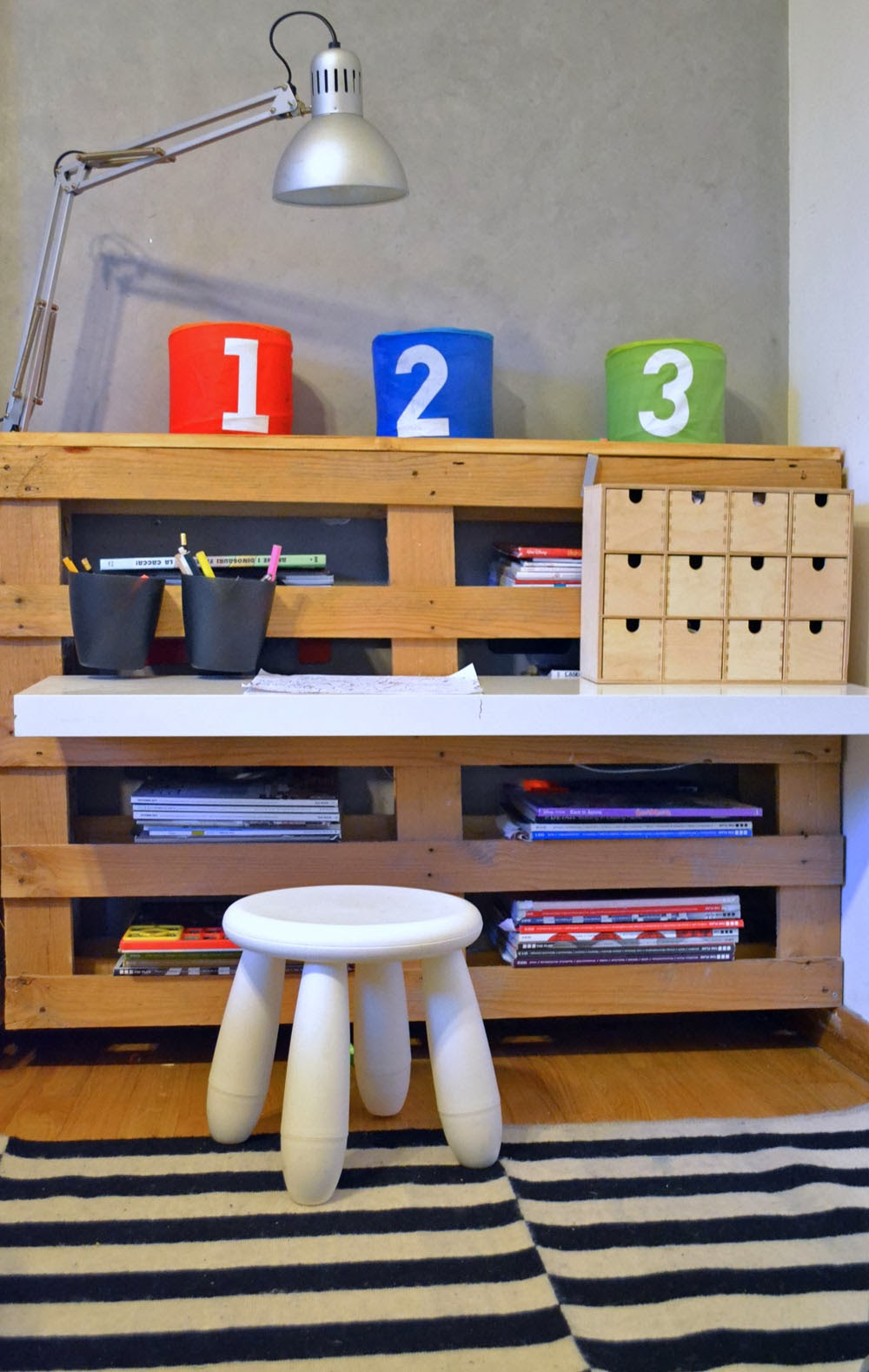 Ikea hack new desk for tommy mommo design bloglovin - Libreria ikea lack ...