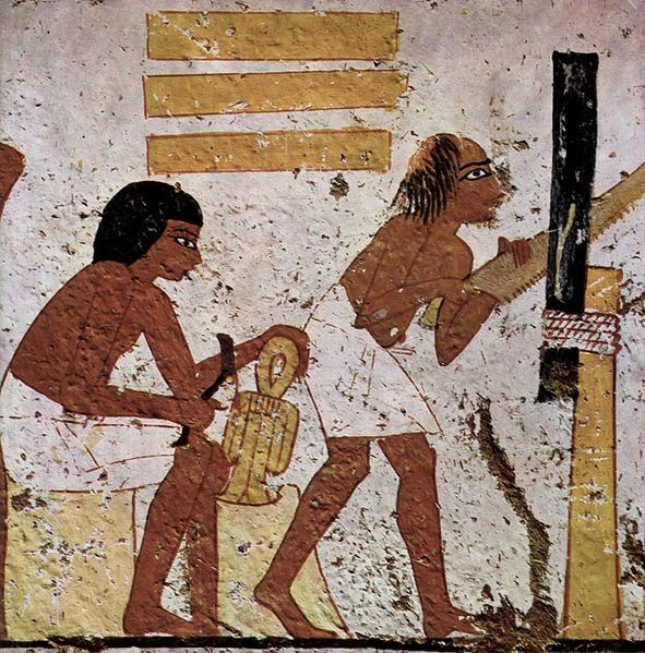 Ancient Egyptian woodcarving