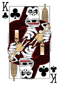 King Kong playing card
