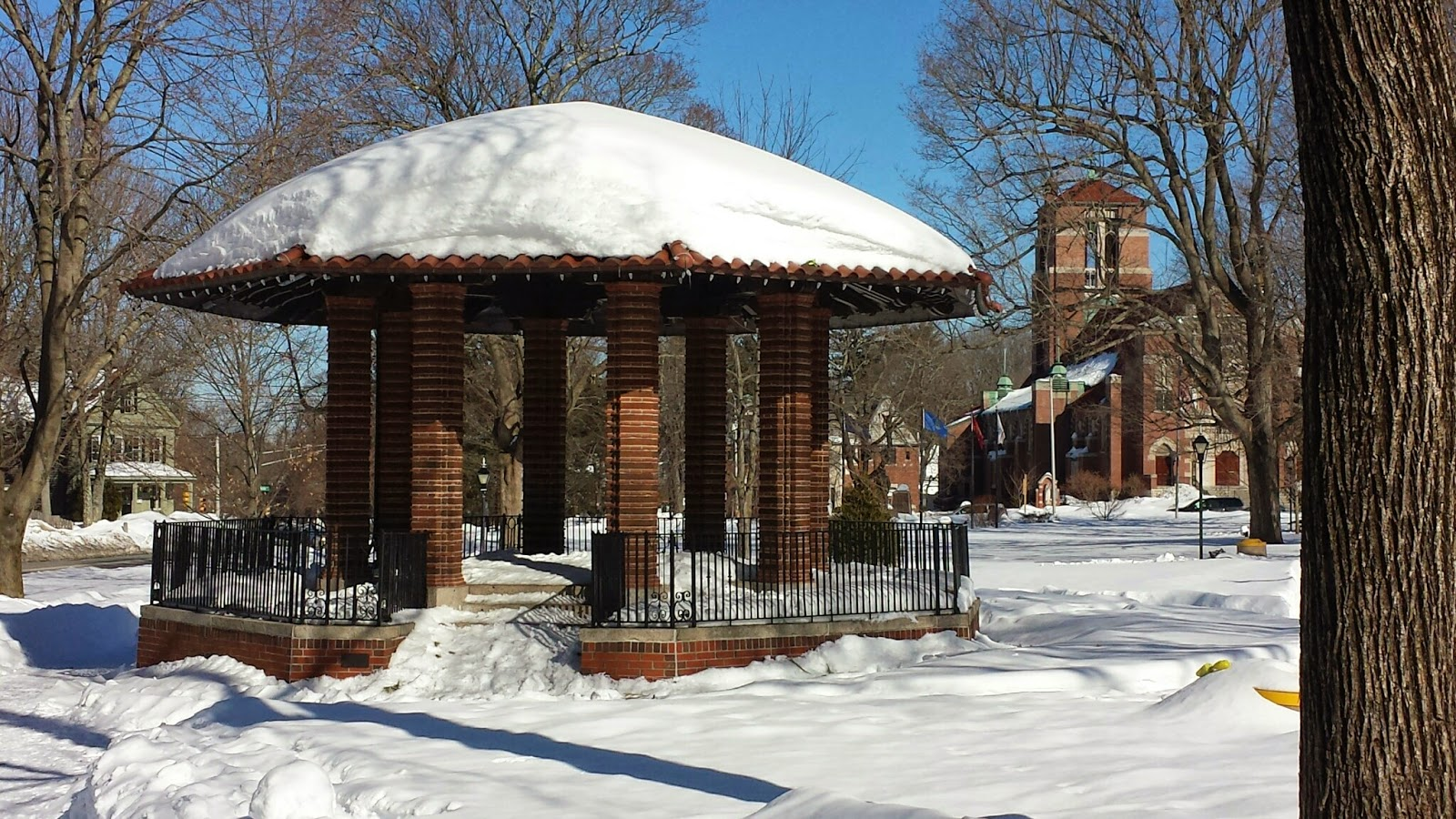without the snow, the Town Common is likely one of the locations for events scheduled  for the Cultural Festival during the last week of July