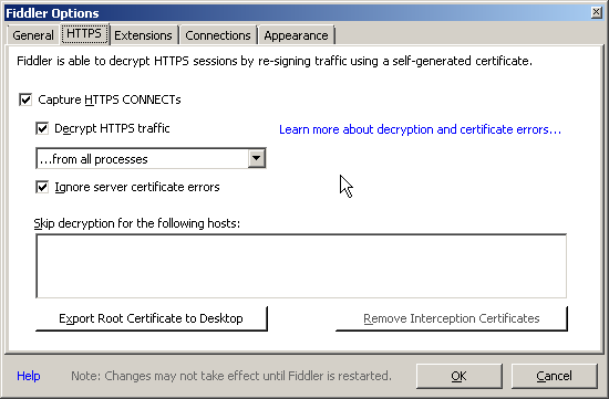 Being a developer: Web-debugging HTTPS PHP cURL requests with Fiddler