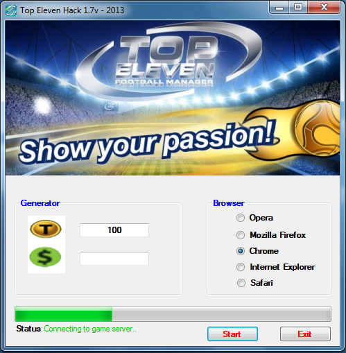 Top Eleven Football Manager Hack v7.7 - 2012
