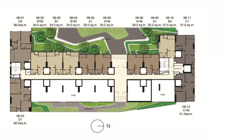 Ideo Q Siam – Ratchathewi, Diamond, Site Plan