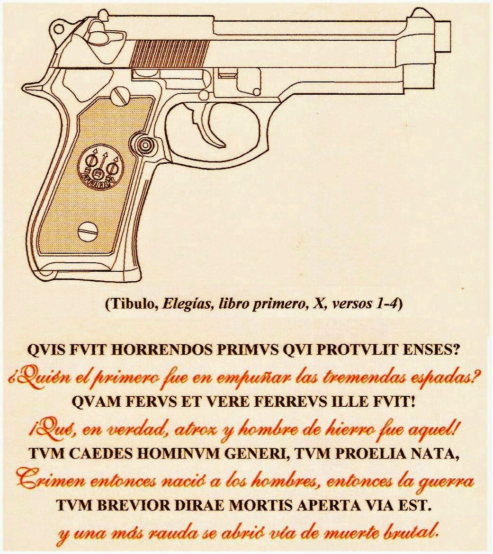 Las letras contra las armas