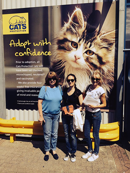 Petplan team at Cats Protection