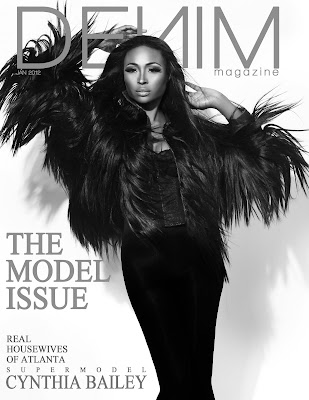 Cynthia Bailey en couv' de Denim Magazine