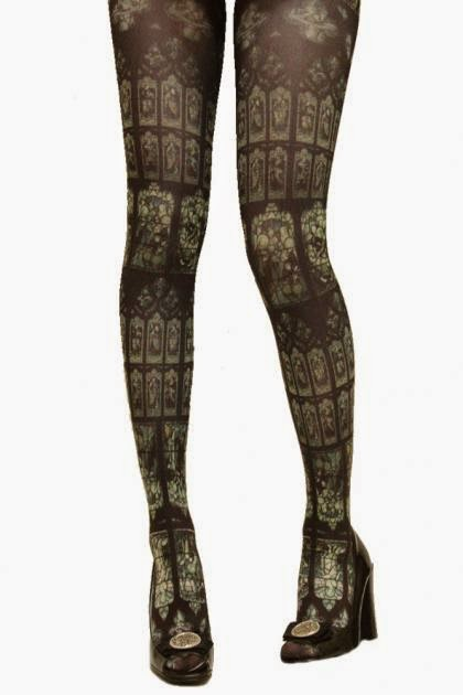 chiffon rose grimoire verum tights stained glass international shipping alternative victorian fashion kawaii tokyo