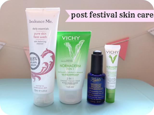 Getting Your Skin Back on Track after a Festival featuring Balance Me, Vichy and Keihl's products  www.helloterrilowe.com
