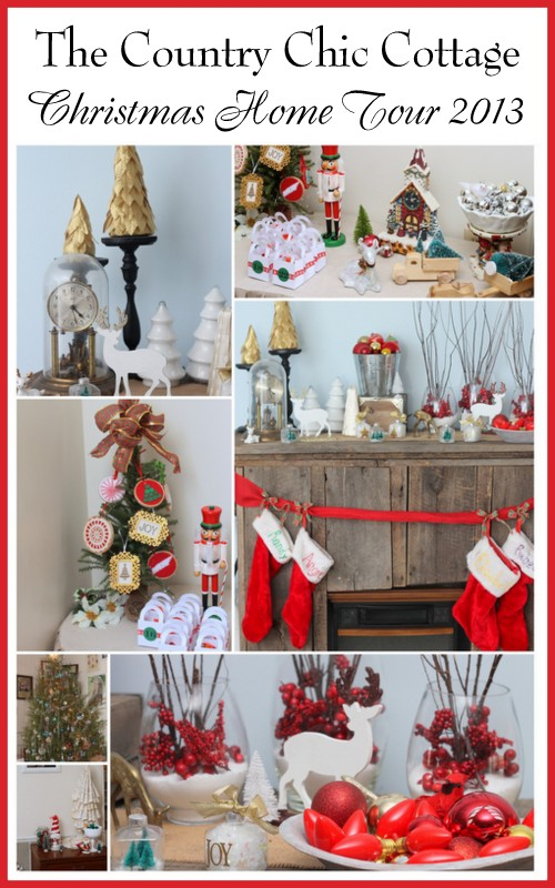 The Country Chic Cottage Christmas Home Tour 2013 -- a rustic country farmhouse home tour with tons of pictures you don't want to miss.