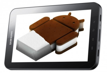 Android ICE CREAM ON Galaxy Tab