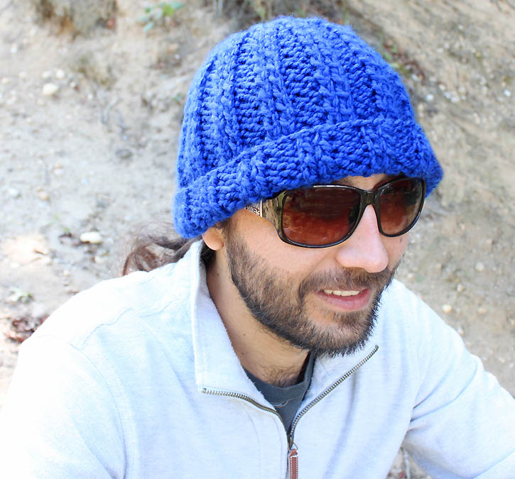Mens basic beanie [knitting pattern] - Gina Michele
