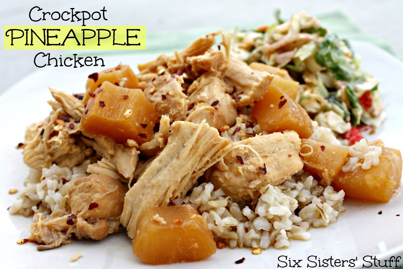 Crock Pot Pineapple Chicken | Six Sisters' Stuff
