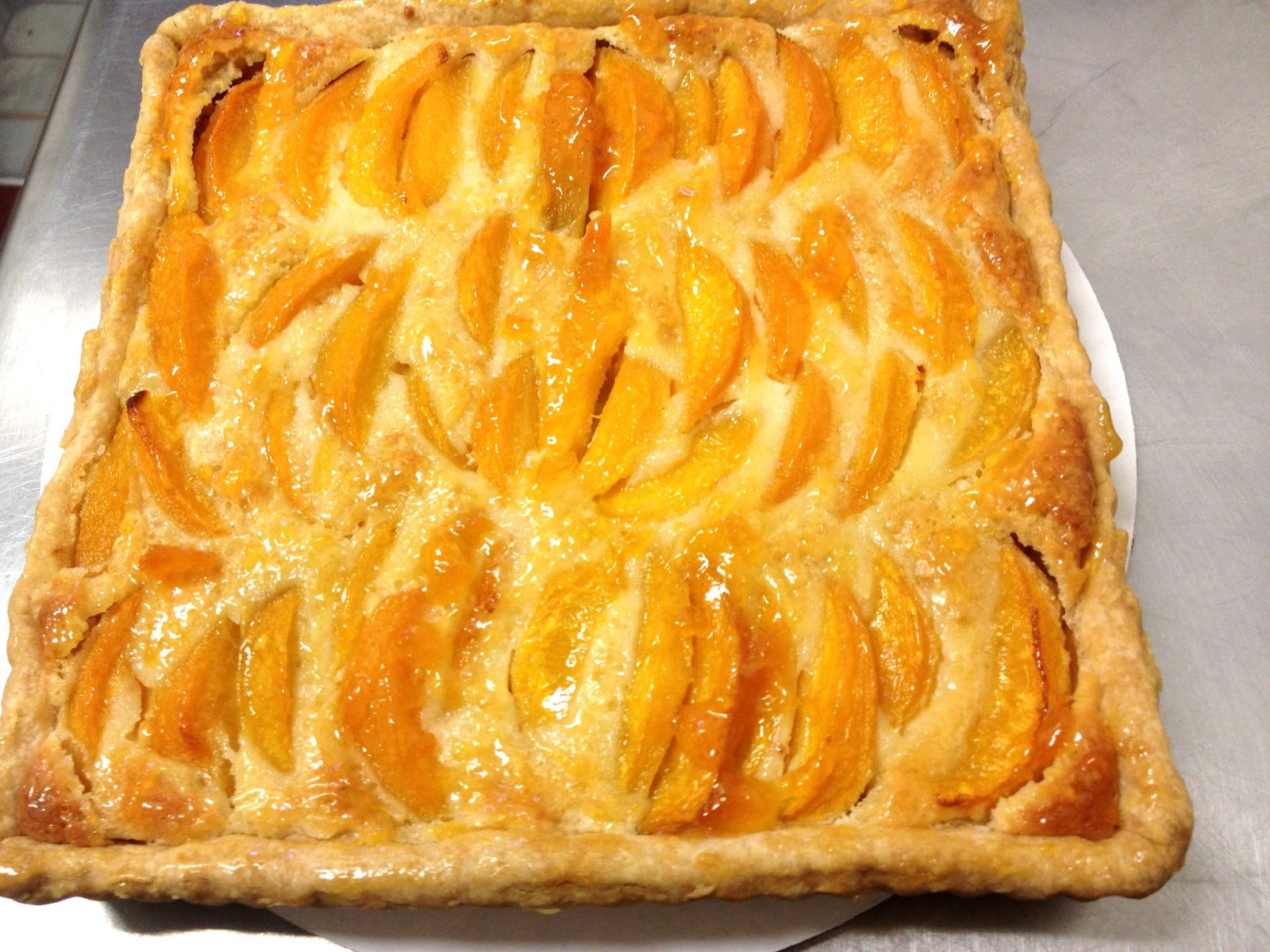 The Sugar Hippie: Peach Almond Tart