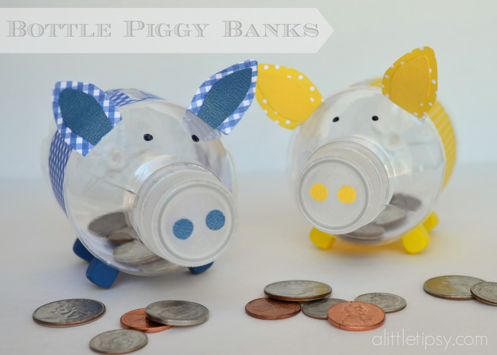 Bottle piggy banks 12monthsofmartha giveaway a little tipsy for What to make out of water bottles