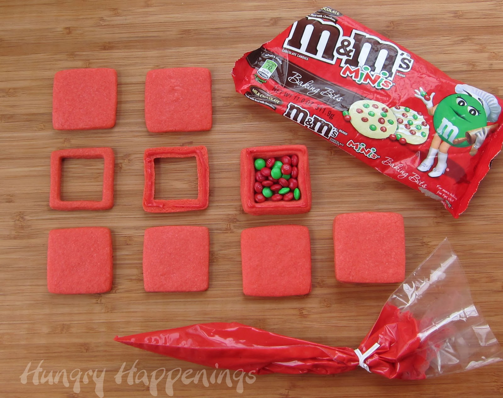 Candy Filled Christmas Present Cookies- Hungry Happenings
