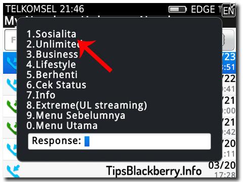 untuk aktivasi paket blackberry sosialita caranya cukup mudah tinggal