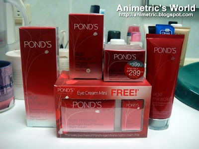 the entire Pond's Age Miracle line