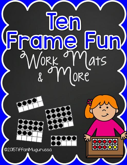 ten frames, kindergarten math