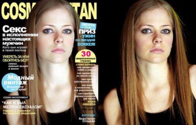 Photoshopped celebrities