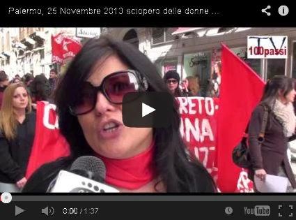 25 novembre 2013 - 1° sciopero delle donne in Italia!