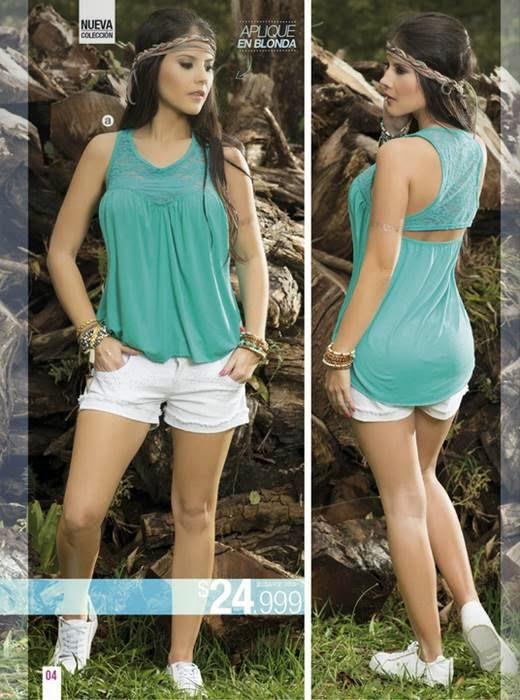 look casual con short y blusa. C-5 15