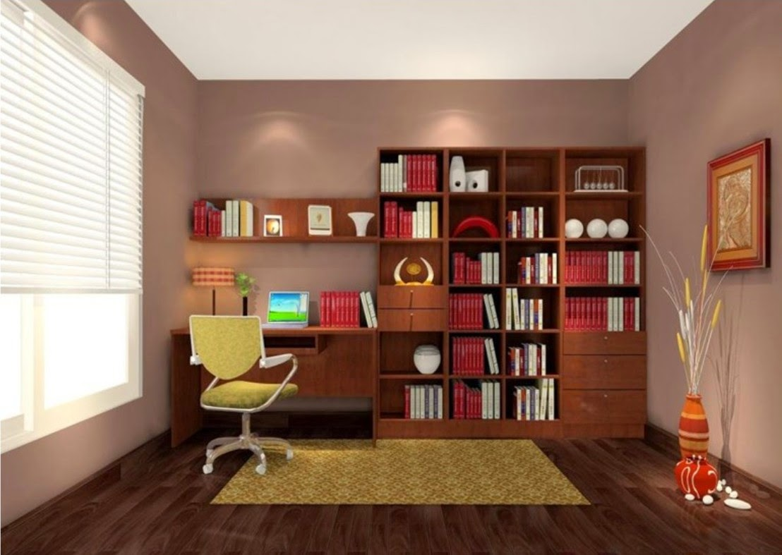 Wood Study Room Simple Designs