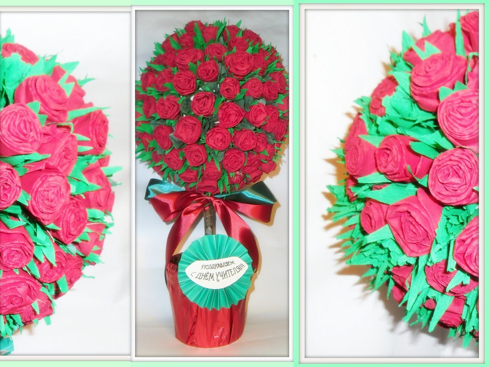 Поделки из цветов из гофрированной бумаги