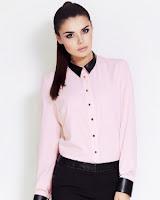 Camasa eleganta, cu maneca lunga, de culoare roz ( )