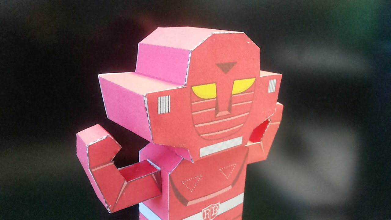Super Robot Red Baron Papercraft