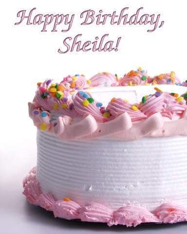Happy Birthday Sheila Cake Images