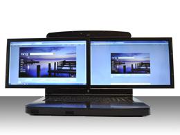 GScreen spacebook laptop double ecran 17 pouces