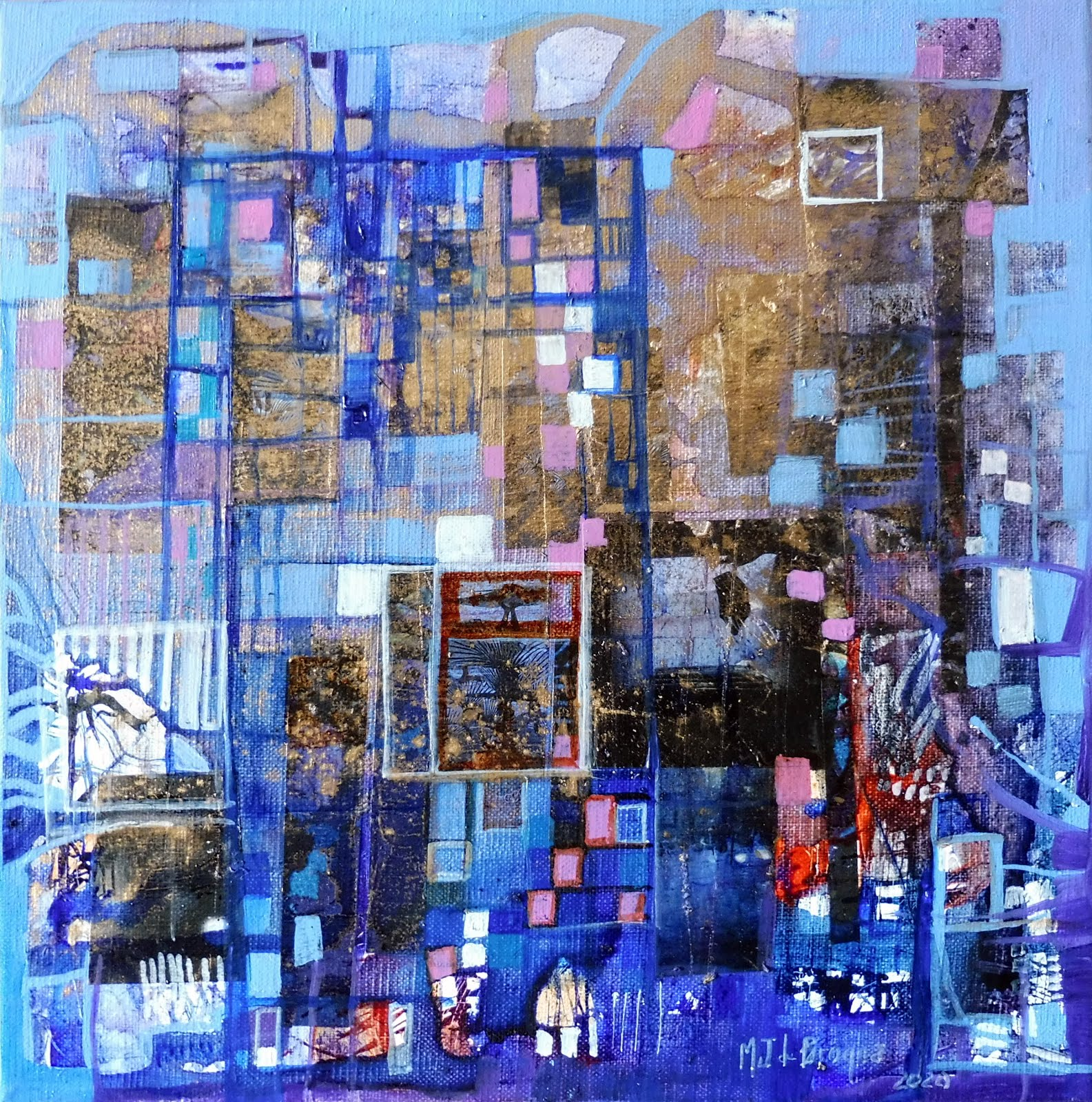 Petite porte bleue - 30 x 30 cm - 2020
