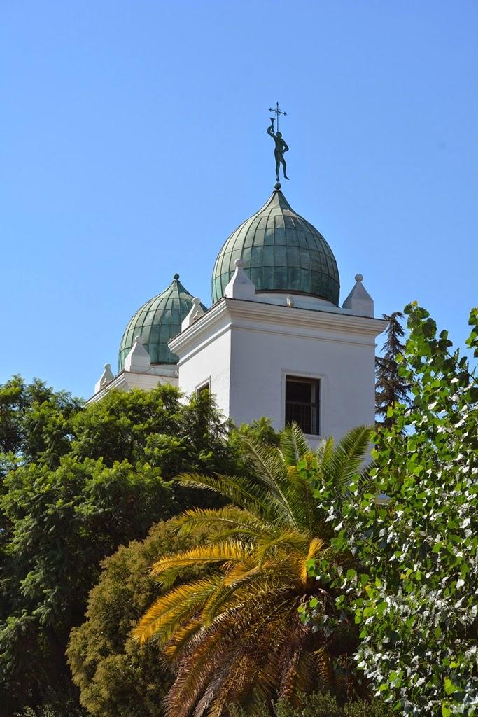 Centre Artisanal de Los Dominicos Santiago church towers
