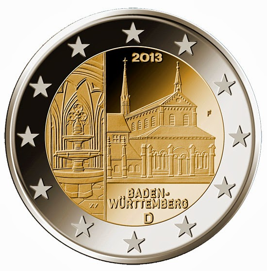 2 euro Germany 2013, Maulbronn Abbey in Baden-Württemberg
