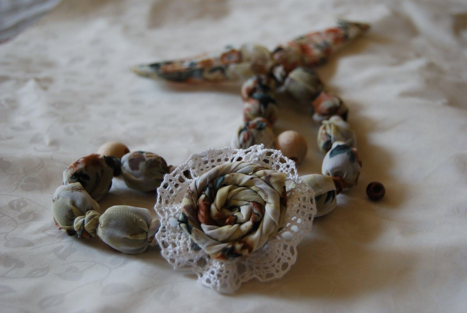 Бусы текстильные своими руками фото