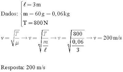 Cálculo de velocidade de uma onda