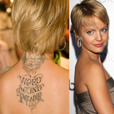 Celebrity Female on Betweenignacioandwilso   Female Celebrity Tattoo